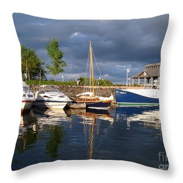 Marina At Charlottetown Prince Edward Island Throw Pillow