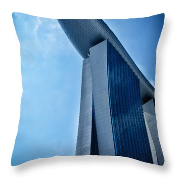 Throw Pillow featuring the photograph Marina Bay Sands by Joseph Hollingsworth