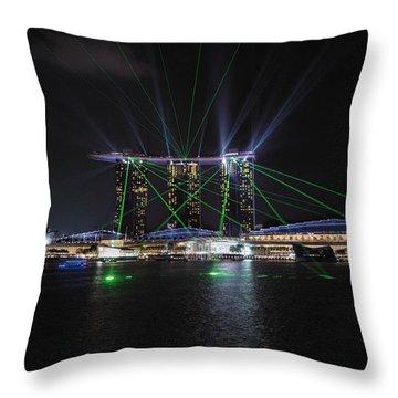 Marina Bay Sands Singapore Throw Pillow