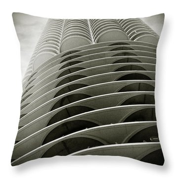 Marina City Chicago Il Throw Pillow by Christine Till