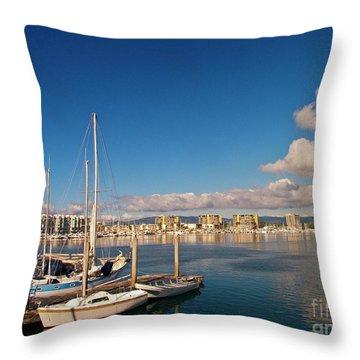 Marina Del Rey 1 Throw Pillow