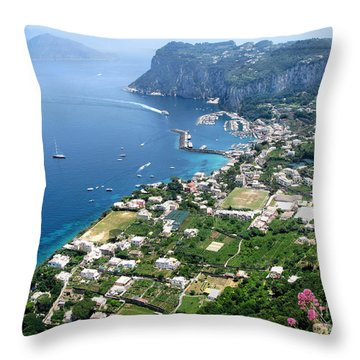 Marina Grande Anacapri Throw Pillow by Jennie Breeze