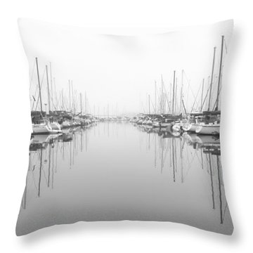 Throw Pillow featuring the photograph Marina - High Key by Heidi Smith