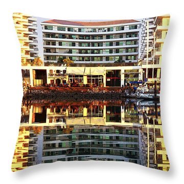 Marina Mazatlan Mirror Throw Pillow