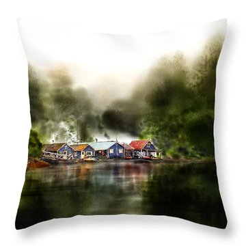 Marina Retreat Throw Pillow