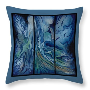 Marina Triptych Throw Pillow