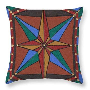 Mariner Rose Throw Pillow by Barbara St Jean