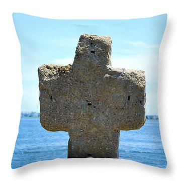 Mariners Cross Throw Pillow by Bob Sample