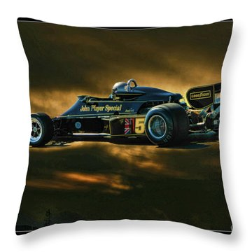 Mario Andretti John Player Special Lotus 79  Throw Pillow