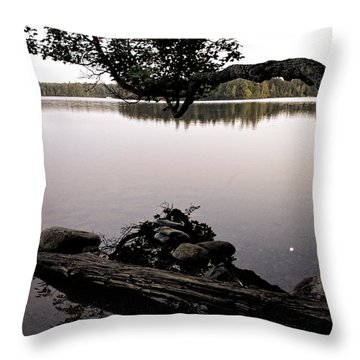 Marion Lake And The Moon Throw Pillow