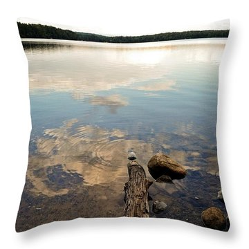 Marion Lake Reflections Throw Pillow by Michelle Calkins