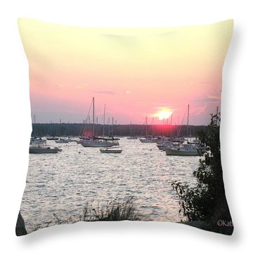 Throw Pillow featuring the photograph Marion Massachusetts Bay by Kathy Barney