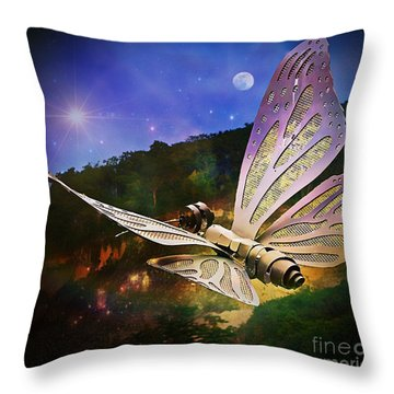 Mariposa Galactica Throw Pillow