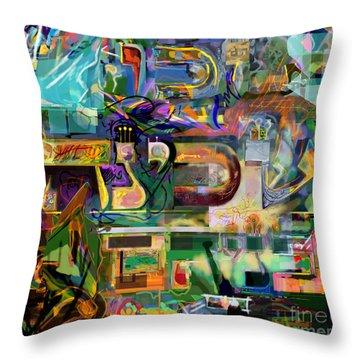 Marital Harmony 54 Throw Pillow by David Baruch Wolk