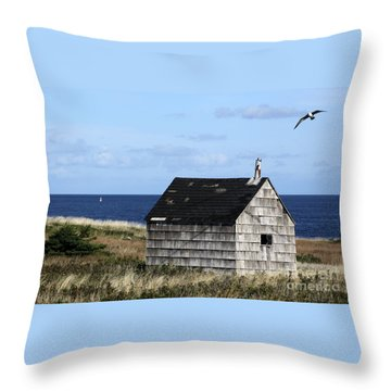 Maritime Cottage Throw Pillow