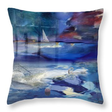Maritime Fantasy Throw Pillow by Randi Grace Nilsberg