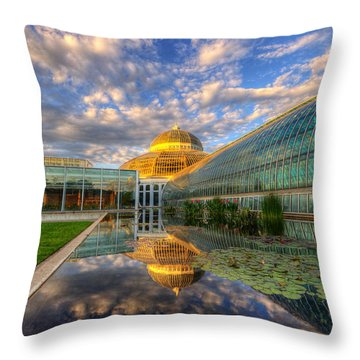 Marjorie Mcneely Conservatory Evening  Throw Pillow