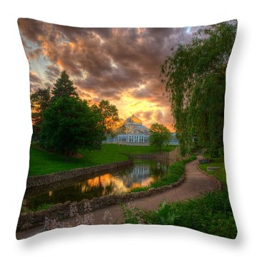 Marjorie Mcneely Conservatory Reflections Throw Pillow