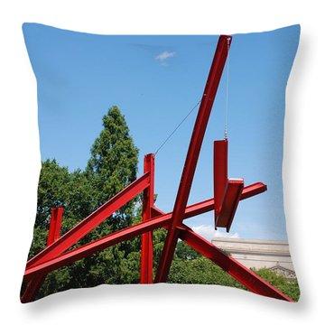 Mark Di Suvero Steel Beam Sculpture Throw Pillow