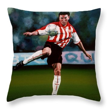 Mark Van Bommel Throw Pillow by Paul Meijering