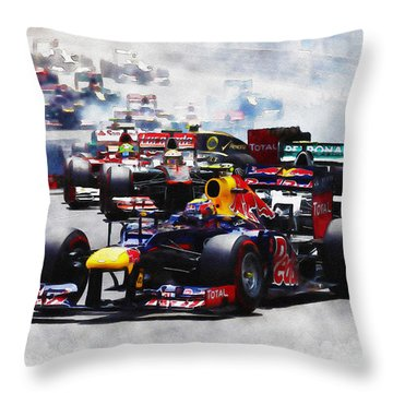 Mark Webber Throw Pillow