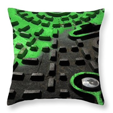 Throw Pillow featuring the photograph Marked by Lena Wilhite