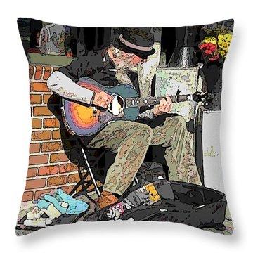 Market Busker 5 Throw Pillow