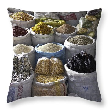 Market - Cusco Peru Throw Pillow
