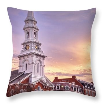 Market Square Rooftops Throw Pillow