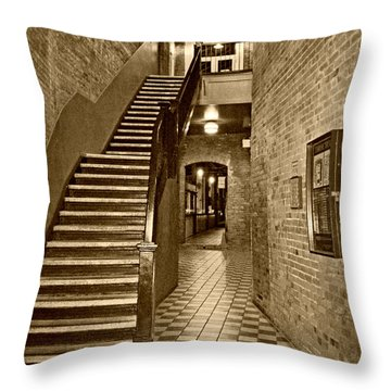 Market Square - Sepia 2 Throw Pillow