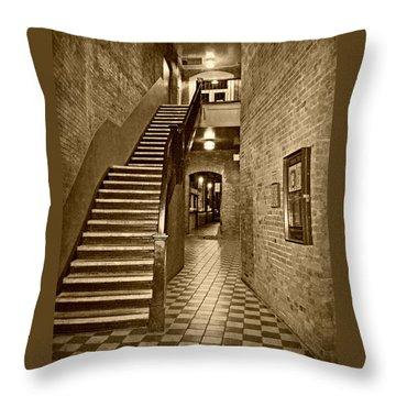 Market Square - Sepia 2 Throw Pillow