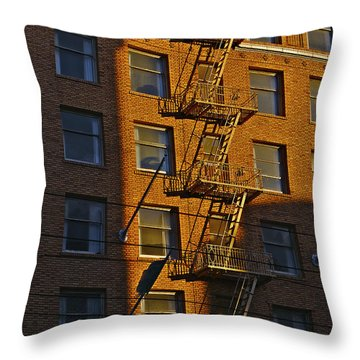 Market Street Area Building 4 Throw Pillow