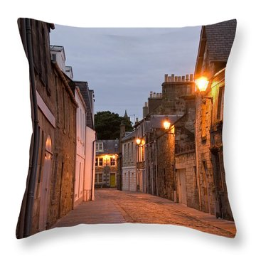 Market Street At Dusk Throw Pillow by Jeremy Voisey