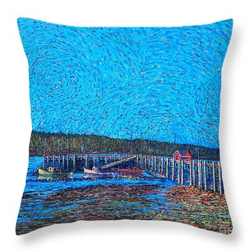 Market Wharf St. Andrews Nb Throw Pillow