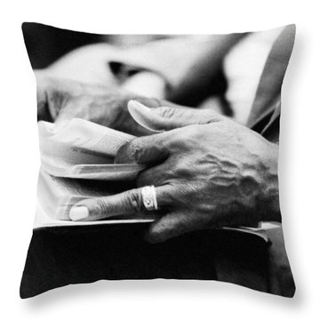 Marking His Place Throw Pillow