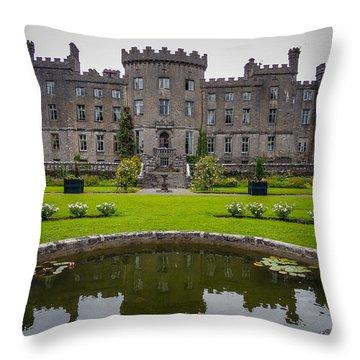 Markree Castle In Ireland's County Sligo Throw Pillow