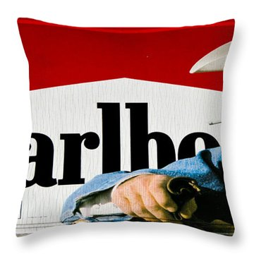 Marlboro Man Throw Pillow