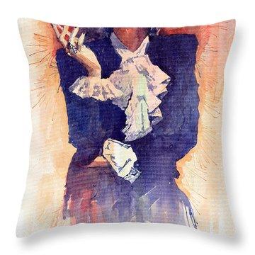 Marlen Dietrich  Throw Pillow by Yuriy  Shevchuk
