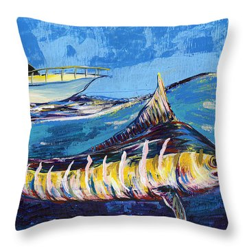 Marlin At Sea Throw Pillow