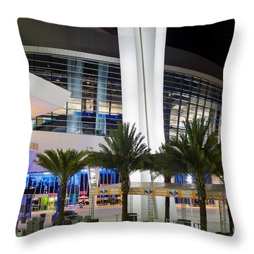 Marlins Park Stadium Miami 5 Throw Pillow by Rene Triay Photography