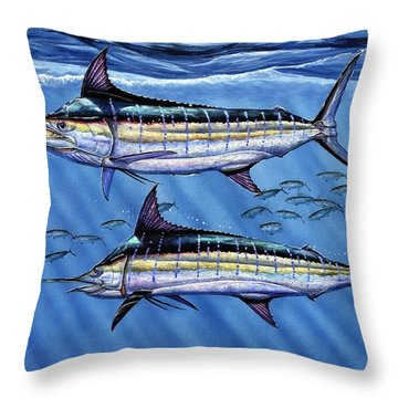 Marlins Twins Throw Pillow