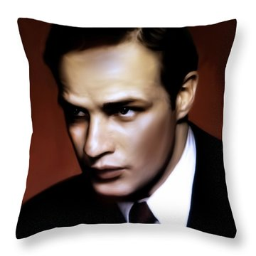 Marlon Brando Tribute Throw Pillow