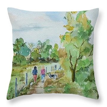 Marlow On Thames 3 Throw Pillow