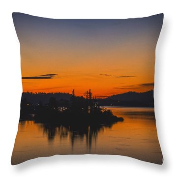 Throw Pillow featuring the photograph Marmalade Skys by Mitch Shindelbower