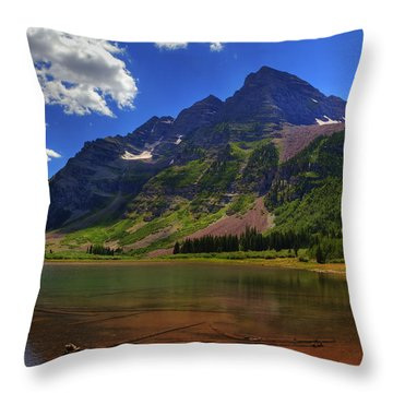 Throw Pillow featuring the photograph Maroon Bells by Alan Vance Ley