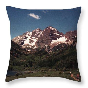 Maroon Bells  Colorado Throw Pillow by Bill Woodstock