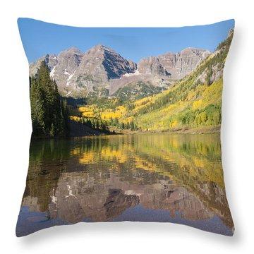 Maroon Bells In Autumn Throw Pillow