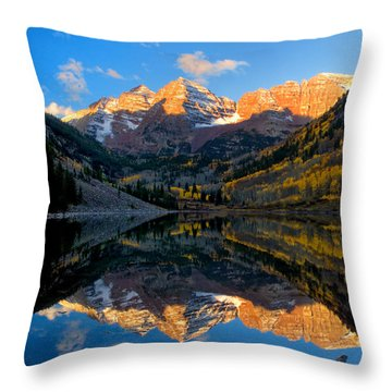 Maroon Bells Landscape Throw Pillow