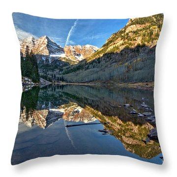 Maroon Bells Reflection Throw Pillow