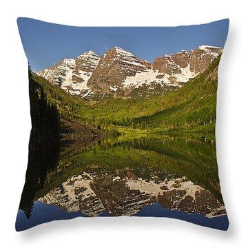Maroon Bells Reflection Summer Throw Pillow